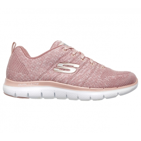 ZAPATILLAS SKECHERS MUJER FLEX APPEAL 2.0- HIGH ENERGY 12756-ROS