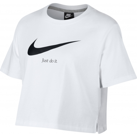 8b0e7358c6 CAMISETA NIKE JUST DO IT CROPPED TOP MUJER AQ8644-100 - Deportes ...
